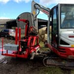 Junior machine fitted to a 360 digger - small